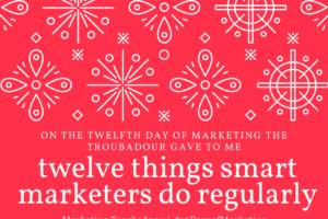 On The 12th Day Of Christmas.12 Days Of Christmas Marketing Troubadour
